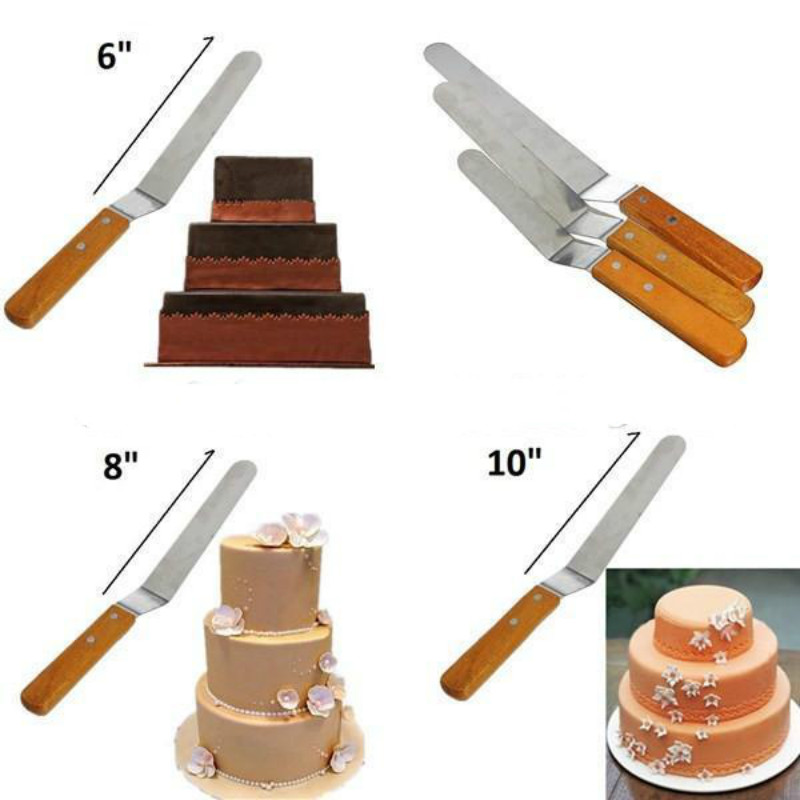 4 8 6 10 Cake Icing Stainless Spatula Decorating