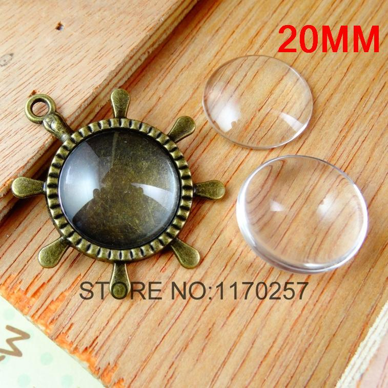 50 PCS / LOT 20 mm Clear Round Glass Dome Cabochon Beads A1899<br><br>Aliexpress