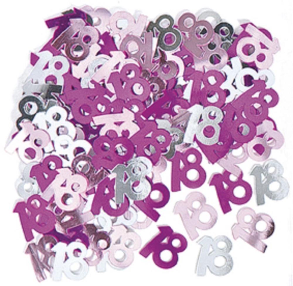 1000pcs pink silver glitz 18th birthday confetti for 18th birthday decoration