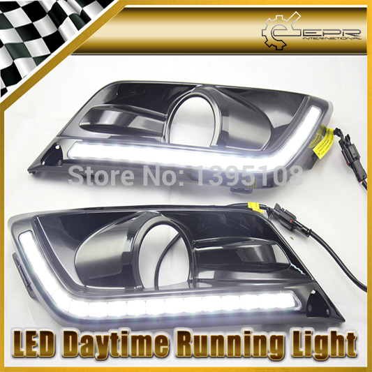 New Car Sty-ling Auto Lamp For Honda Crider 2013-2014 Black Color LED Daytime Running Light DRL<br><br>Aliexpress