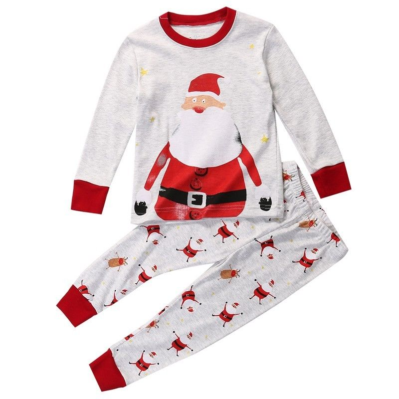 Christmas Baby Kid Boys Girls Santa Claus Nightwear ...