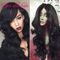 Human hair Lace Front wigs black women cheap Brazlilian wigs with baby hair 150 density Wavy Glueless Full lace wig