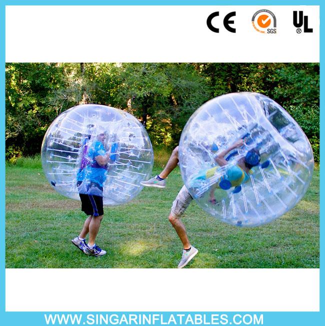 Free shipping 0.8mm PVC 1.8m diameter bubble soccer ball,bubble bumper sports for big heavy players(China (Mainland))