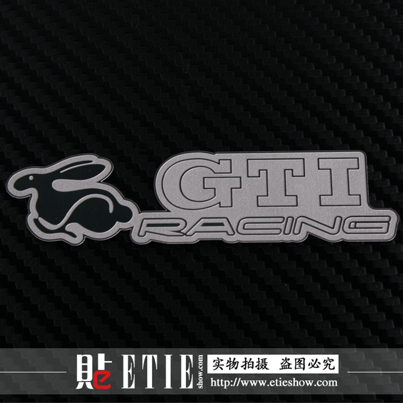 10 pieces/lot ETIE Factory Direct Car Stickers ABT GTI Mugen Custom Car Emblem Badge Logos Stainless Steel Stickers For Cars(China (Mainland))