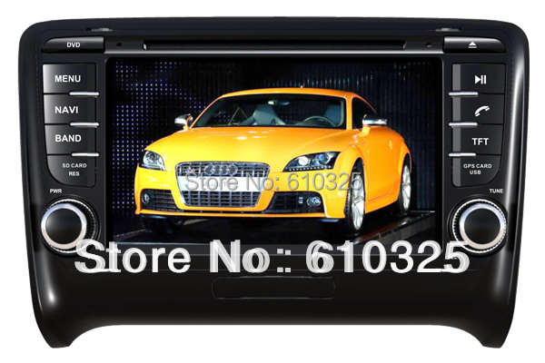 Free Shipping 7 Inch Car Radio Audio DVD Player GPS For AUDI TT 2006~2011 Retail/PC(China (Mainland))
