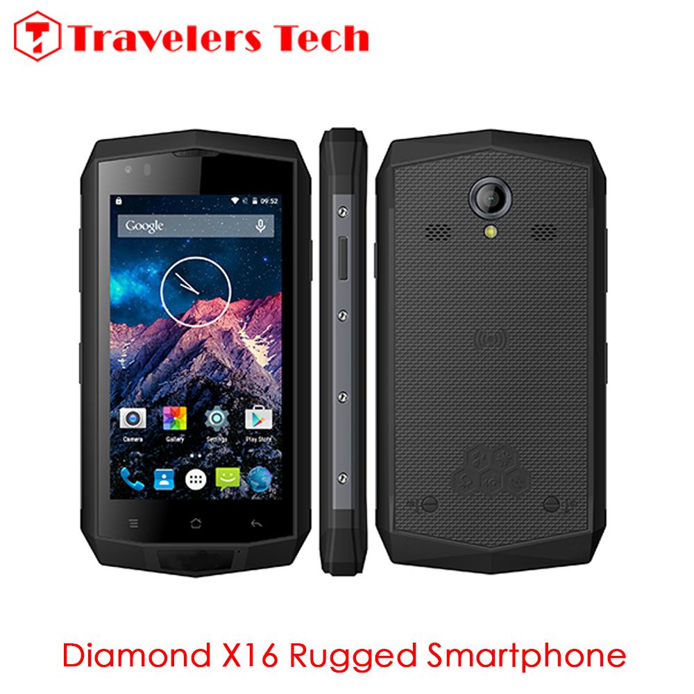 Qi Wireless Charging Smartphone Diamond X16 IP68 Rugtel Waterproof Rugged Phone 4.5 Inch EU/USA 4G LTE B3 B4 B1 NFC GPS Tank X10(China (Mainland))