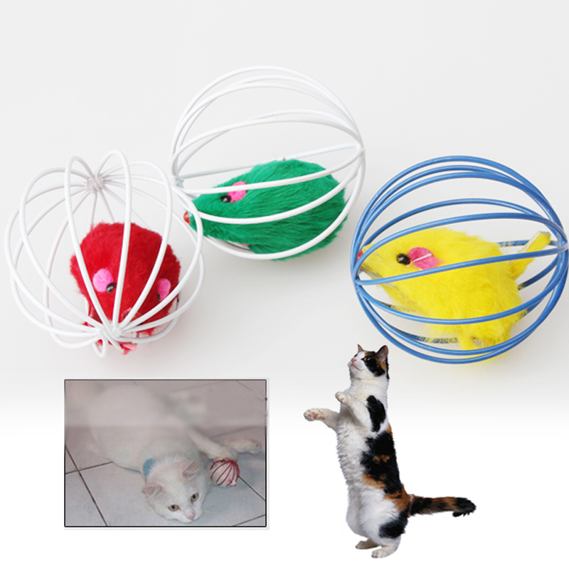 Pet Cat Lovely Kitten Gift Funny Play Toys Mouse Ball Best Gift Brand New Free Shipping(China (Mainland))