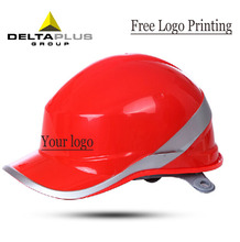 Deltaplus Head protection Construction Safety Helmet Reflective Line ABS Rescue Helmet Adjustable Size Working Helmet 102018(China (Mainland))