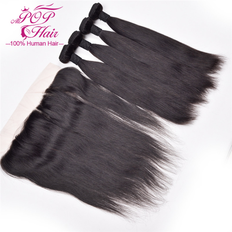 7A Brazilian Virgin Hair With Lace Frontal Closure,4Bundles Brazilian Virgin Straight Hair With Lace Frontal Closure 4x13frontal<br><br>Aliexpress