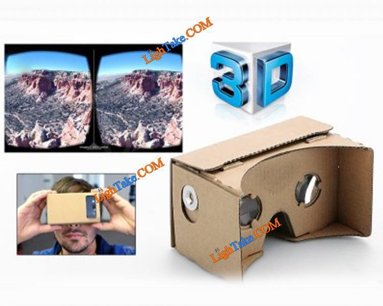 Google cardboard diy vr kit mobile phone virtual reality 3d glasses