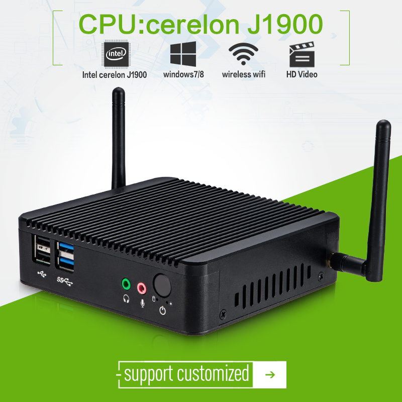 New Arrival! smallest mini computer J1900 2.0GHZ arm thin client for XCY X-29 2g ram 32g ssd without fan computer(China (Mainland))