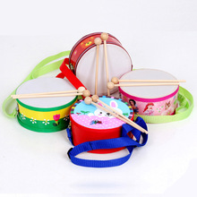 New style kids toys cute cartoon hand drums toys wooden drums toys kids tap toys kawaii kids musical instruments(China (Mainland))