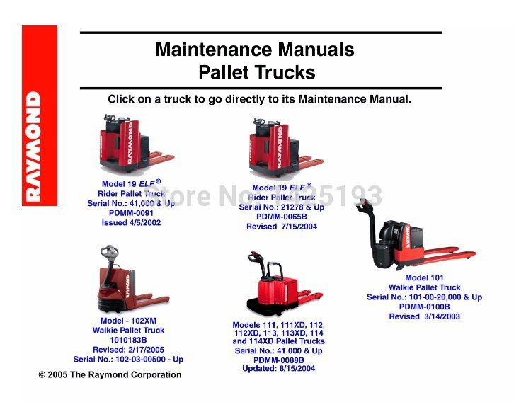Raymond Maintenance Manual Pallet Trucks(China (Mainland))