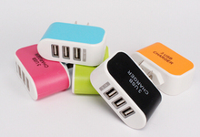 Buy 200pcs/lot 3 usb ports 3A US USA AC home wall charger adapter power plug iphone 4 5 6 samsung s3 s4 note 2 3 htc for $180.00 in AliExpress store