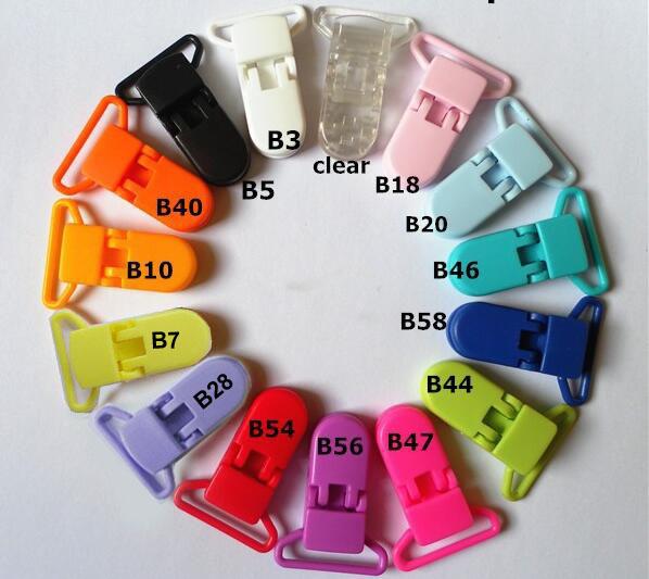 15 цветов 200 шт. кам пластиковый зажим пластиковые соску клип прозрачный соска зажим для детские манекен клип смешивать цвета S017 25 мм