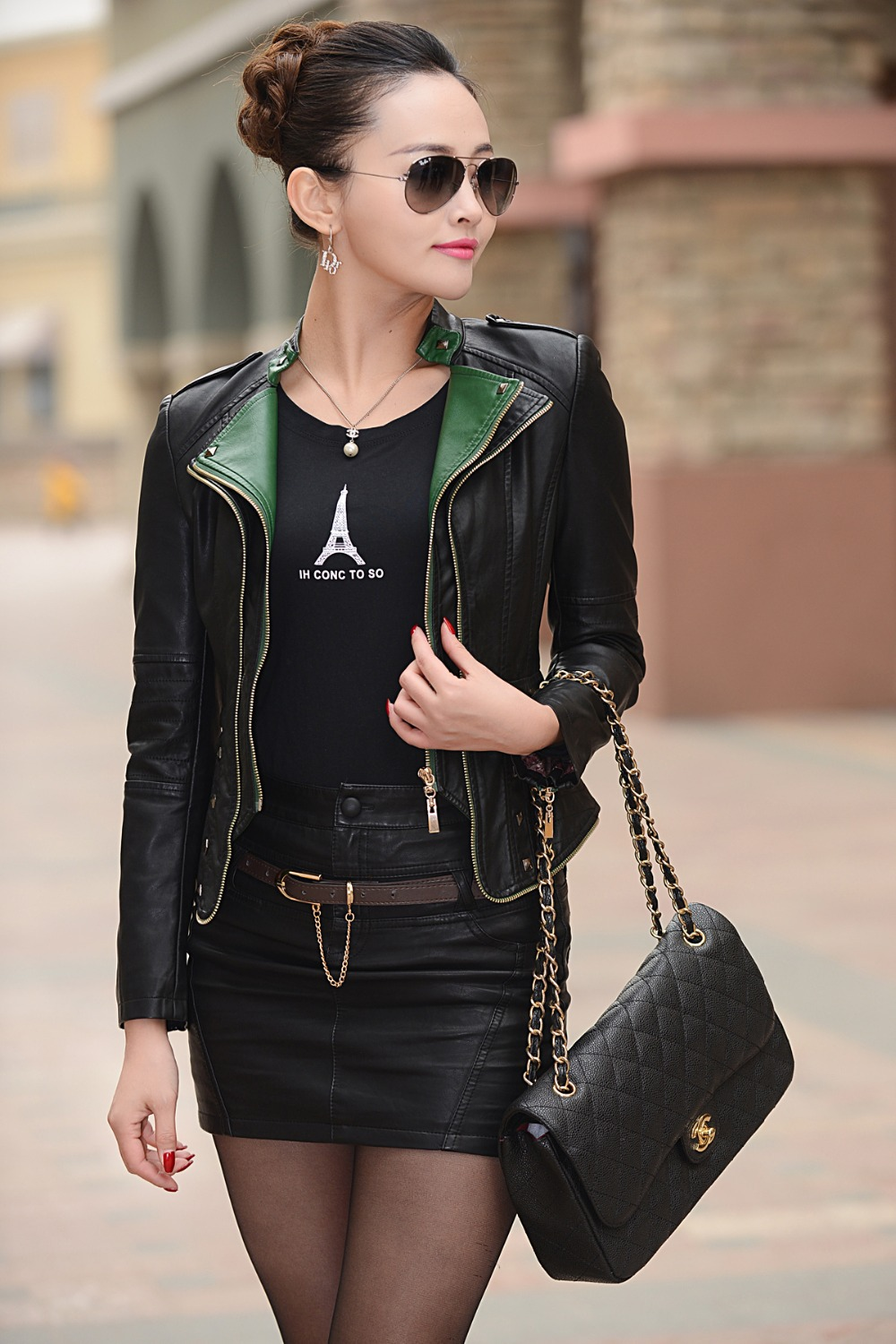 Feminina Jaqueta Feminin 2015 Leather Jacket Women Motorcycle Coat Slim Womens Short Biker Faux Leather Jackets Supernova Sale(China (Mainland))