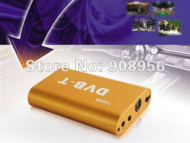 DVB-T188B Car mobile Set top box, car SD MPEG2 TV turner, car digital TV reveiver support high speed above 160km/h for car use