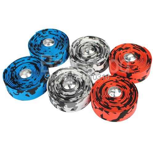 2015 New 1Pc 217 Centimetres Muti color Environmental Bicycle Handlebar Tape Cycling Road Bike Cork Rubber