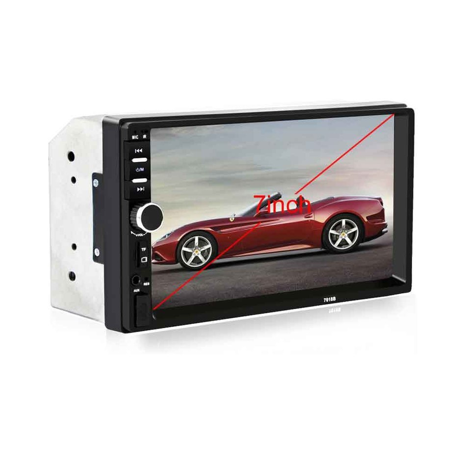 "7018B 2DIN Car Bluetooth Audio 7"" HD Radio In Dash Touch Screen Stereo MP3 MP5 Player USB(China (Mainland))"