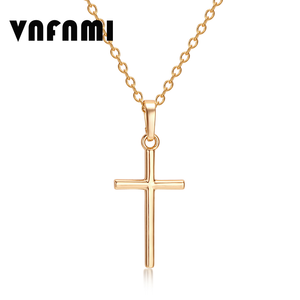 Cross Pendant New Fashion Jewelry Gift Wholesale Trendy 18K Real Gold Plated Jesus Pendant Necklace Women/ Men Jewelry for Women(China (Mainland))