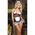 Hot Woman Nurse Hollow Out Costume Cosplay Fantasias Uniform Hot Lady Fancy Dresses Lingerie Clubwear Nightwear