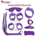 whip collar Mouth ball gag Sex Adult games bondage Set Leather Plush Four Colors erotic toys