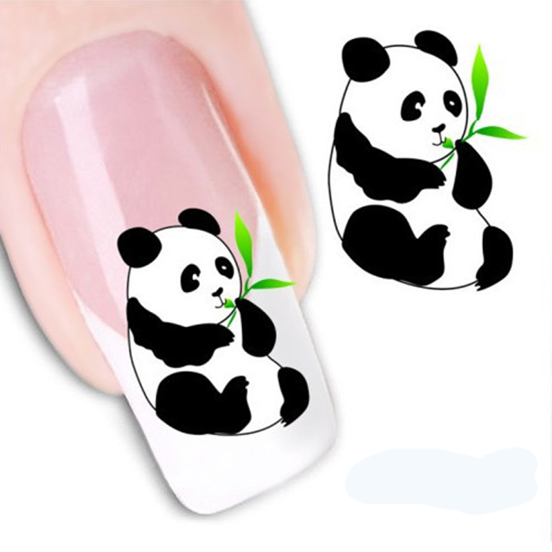 1PCS Nail Design 3D Water Decals Cute Panda DIY Nail Decoration Water Transfer Printing Nail Art Stickers Manicure Styling Tools(China (Mainland))