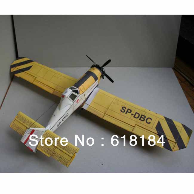Free shipment Paper Model airplane diy toys 1:33 Poland M-18 Dromader Agricultural aircraft 3d puzzles for adult militarycrafts(China (Mainland))