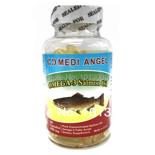 Medi Angel Omega-3 Salmon Fish Oil Health Supplement 100 Softgel 1000mg(China (Mainland))