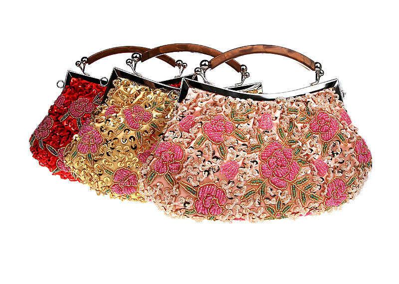 New Womens Embroider Flower handbag Evening Shoulder Bag Free Shipping B036<br><br>Aliexpress