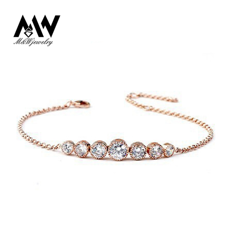 370170 High Quality Jewelry 18K Gold Plated Elegant Clear Austrian Crystal Charm Bracelet for Women<br><br>Aliexpress