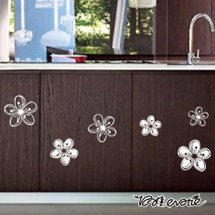 Eva kitchen cabinet refrigerator stickers glass stickers furniture stickers wall stickers romantic peach