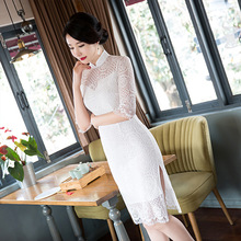 Buy New Arrival Chinese Traditional Women's Coil Button Mandarin Collor Fashion Short Cheong-sam Vintage Dress M L XL XXL 3XL ZHEN05 for $38.76 in AliExpress store