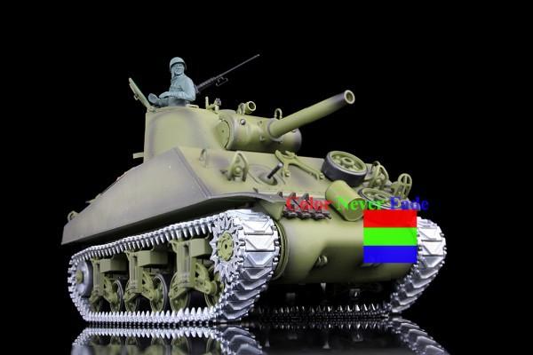 HengLong 1/16 U.S.A Sherman RC Tank Upgraded Metal version Simulate Sound With Smog 3898-1(China (Mainland))