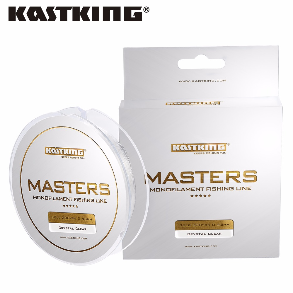 KastKing Brand 2017 300Yds/274M Masters Premium Monofilament Line 0.18-0.48mm Nylon Fishing Line New 4-30LB Mono Nylon Line(China (Mainland))