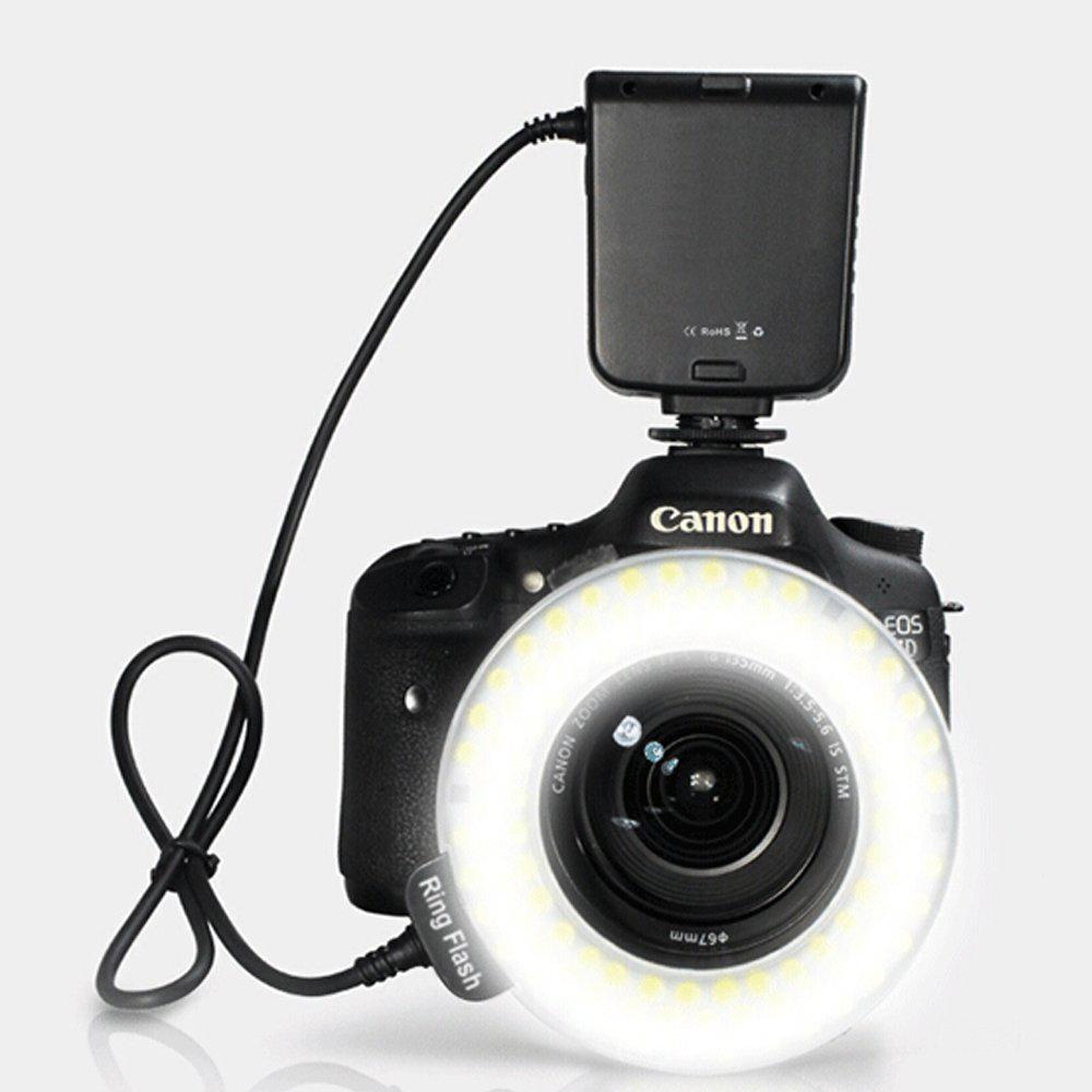 Macro LED Ring Flash Light For Canon DSLR Cameras T5i (700D), T4i (650D), T3 (1100D), T3i (600D), T1i (500D)(China (Mainland))