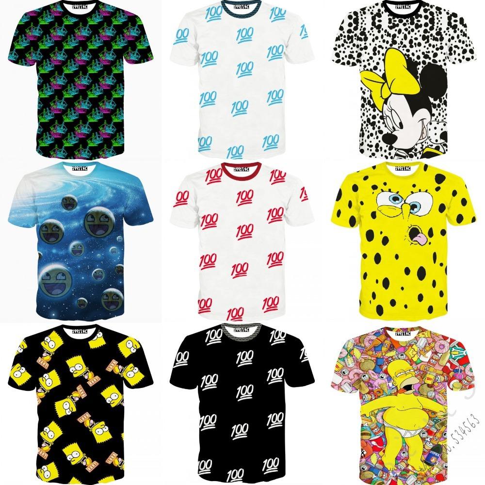 Мужская футболка SiviS 2015 t 100 t tshirt 3D женская футболка other 2015 3d loose batwing harajuku tshirt t a50