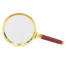 Datyson Mini Magnifying glass 90 mm Old people Read newspapers Wooden handle magnifier optical lenses - Official Store store