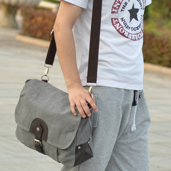 New 2014 fashion covert bags men messenger bags Brief men's travel bags canvas casual shoulder bag