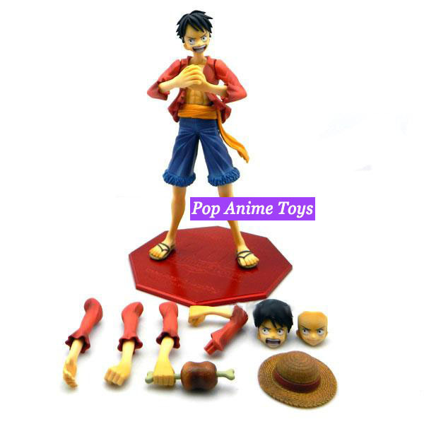 High Quality Excellent Model Pop Portrait of Pirates Boxed One Piece Luffy Action Figure One Piece Toys For Collection(China (Mainland))