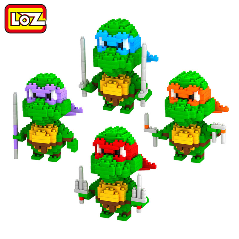 LOZ Diamond Building Blocks Teenage Mutant Ninja Turtles Figure TMNT DIY Toy Action Figure dolls Child Gift Christmas Present(China (Mainland))