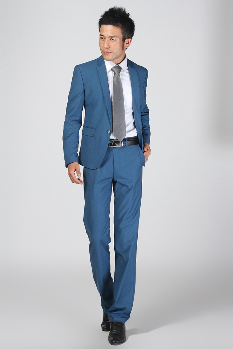 83-Free Shipping New 2015 man suit classic Fashion grooms man suits! Men's Blazer Business Slim Clothing Suit And Pants