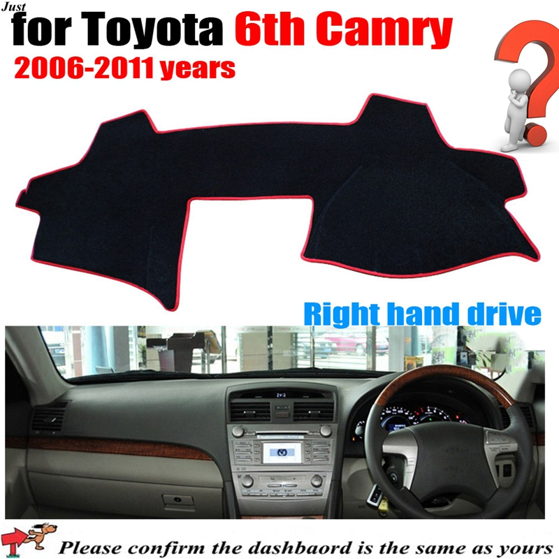 Car Dashboard Covers For TOYOTA 6th CAMRY 2006-2011 years Automobile Dashmat Right Hand Driver(China (Mainland))