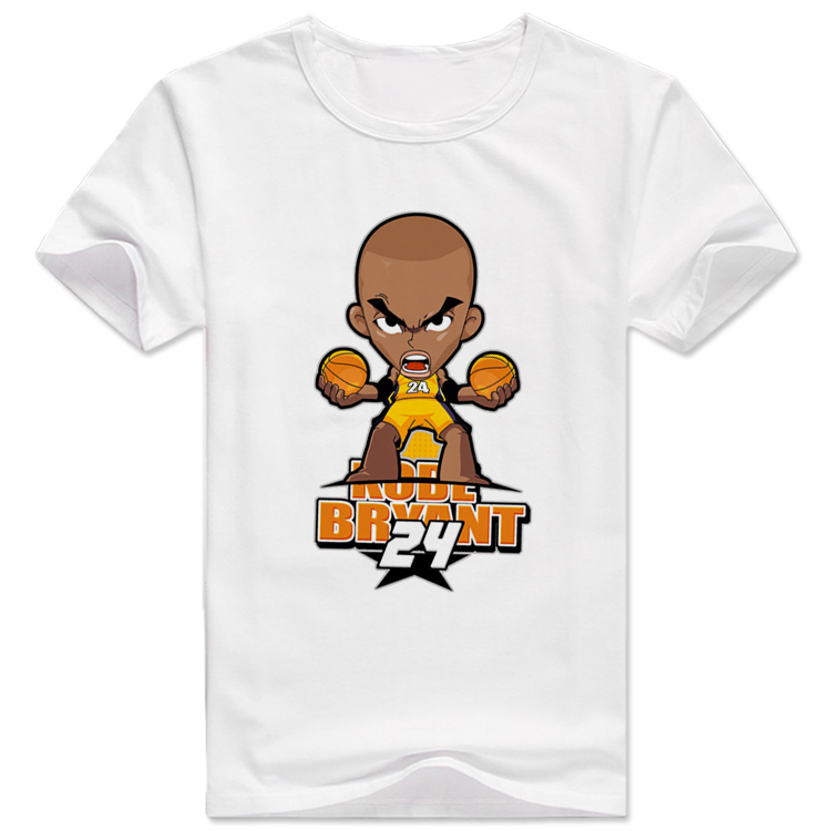 2015 anime swag t shirt game rock weed shark sports basketball Short Sleeve Cheap Hip Hop tees shirt For Men Bryant(China (Mainland))