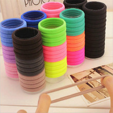 20pcs/lot Candy Fluorescence Colored Hair Holders High Quality Rubber Bands Hair Accessories Girl Women Tie Gum for Hair