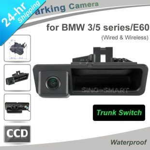 Wholesale HD CCD Trunk Handle car rearview back up Parking camera for BMW 3 5 series E60 night vision waterproof