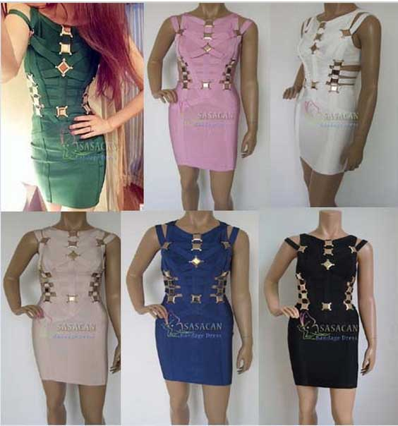 New arrival High Quality celebrity Yasmine metal cut out HL bandage dress,celebrity party dress,6 colors for selectionОдежда и ак�е��уары<br><br><br>Aliexpress