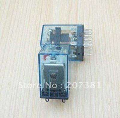 free shipping 2pcs 110V AC Coil Power Relay DPDT LY2NJ HH62P-L JQX-13F*(China (Mainland))