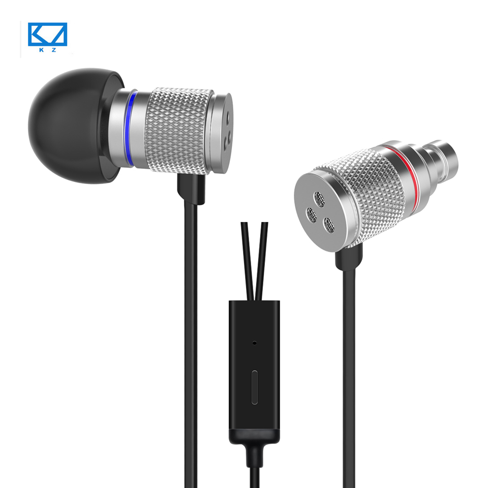 KZ HDS3 Miniature In-ear Earphone With Microphone HIFI Wire Earphones Aluminum Bass Stereo Mobile PC MP3 Dynamic Music Headset(China (Mainland))