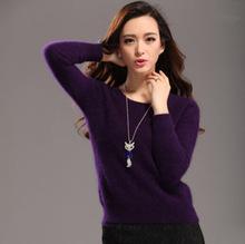 2015 Autum кашемир женщин свитера норки кашемировый свитер пуловер зиму - рукавом ...